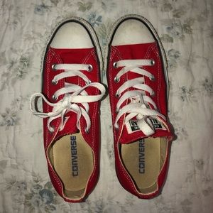 Red Converse. Size 6. Good condition!